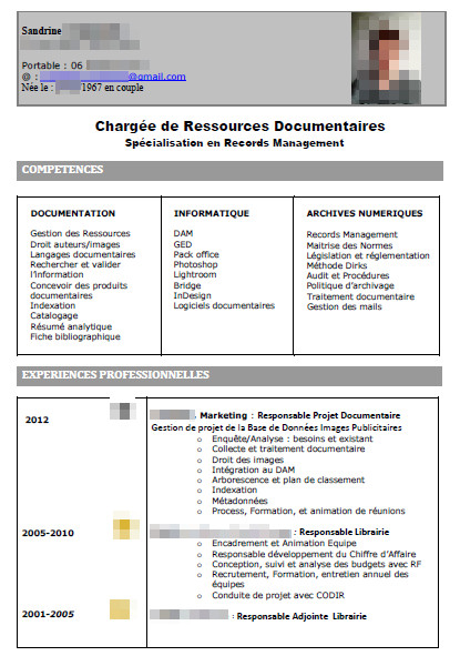 exemple cv charge de recrutement