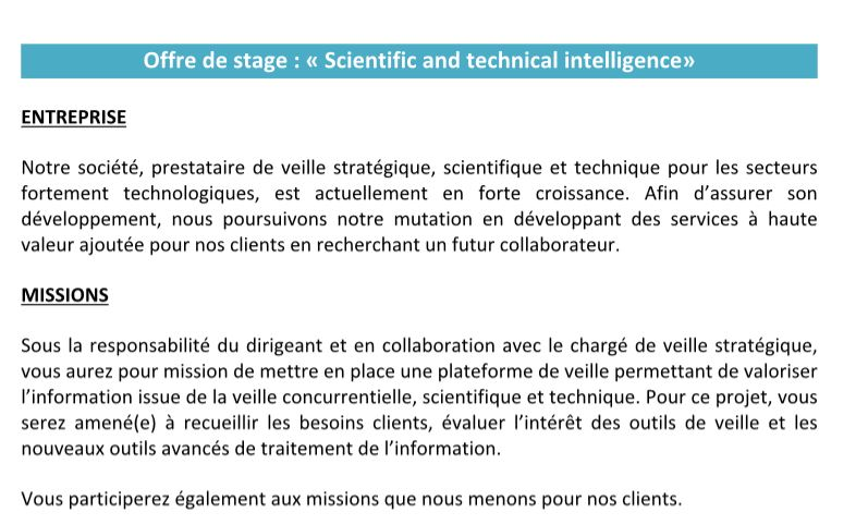 stage 69 scientific and technical intelligence